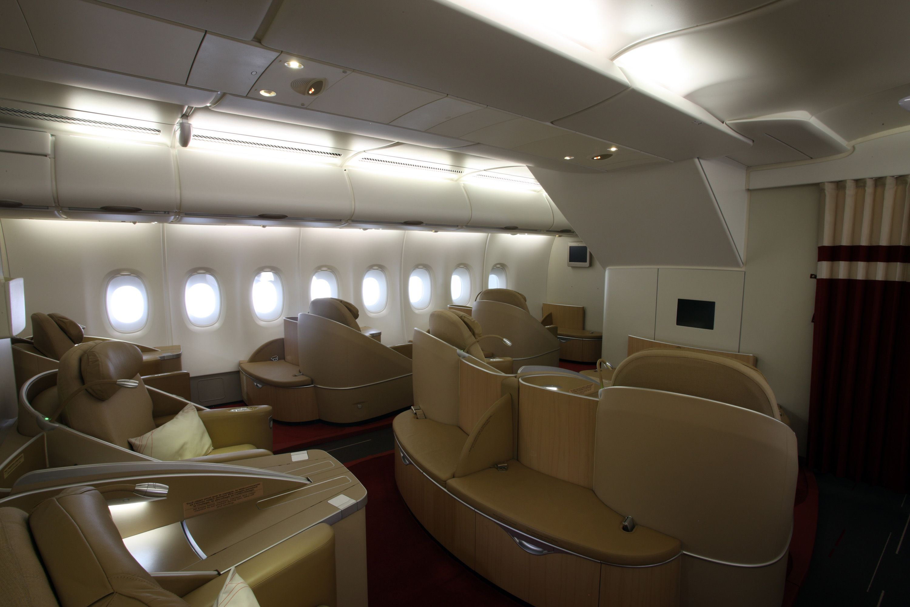 Air France La Première A380 Airplane interior, Aircraft