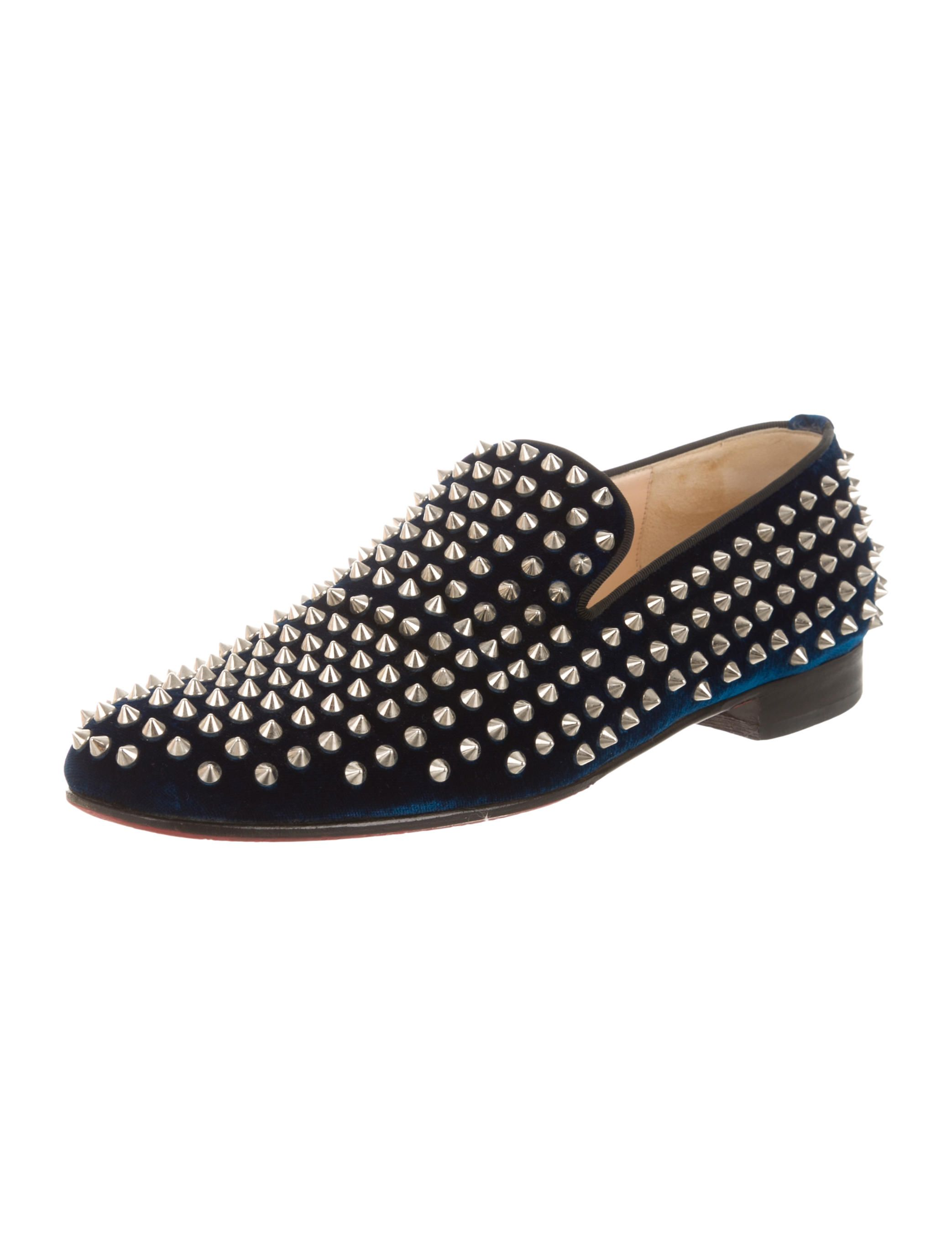 eea8b6f71fe Christian Louboutin Velvet Rollerboy Spikes Loafers - Mens Shoes - CHT49865