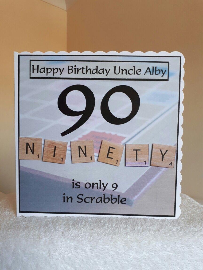 Birthday Cards 90th Scrabble Happy Birthday Uncle 90th Birthday Cards 90th Birthday