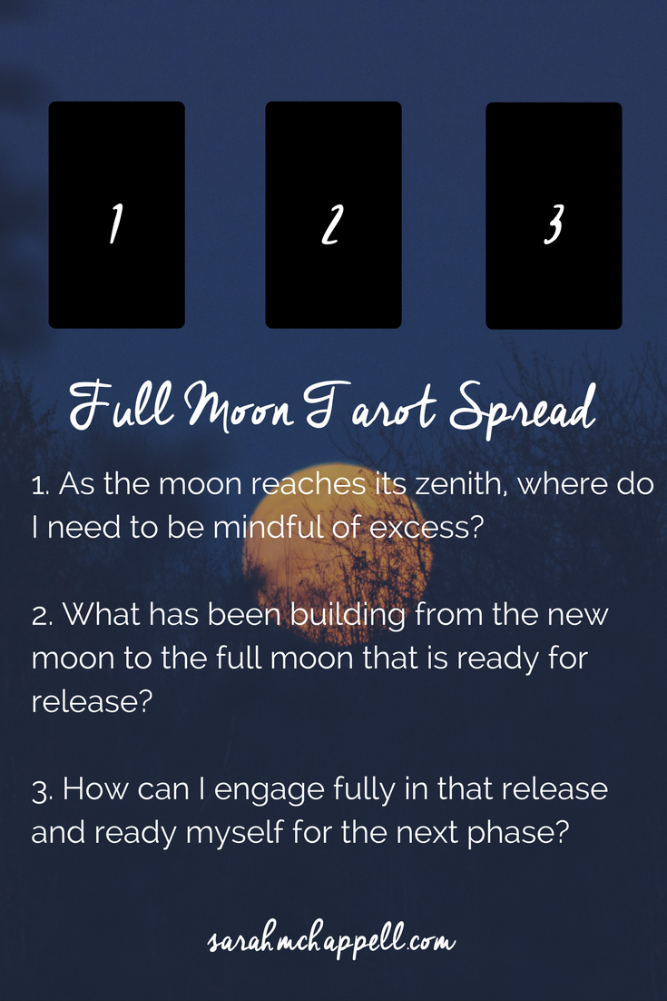 Simple Tarot Spread for the Full Moon in Scorpio — Sarah M. Chappell #fullmoontarotspread