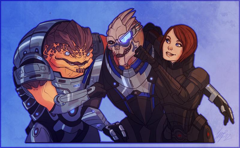 Mass Effect Grunt Garrus FemShep Commission