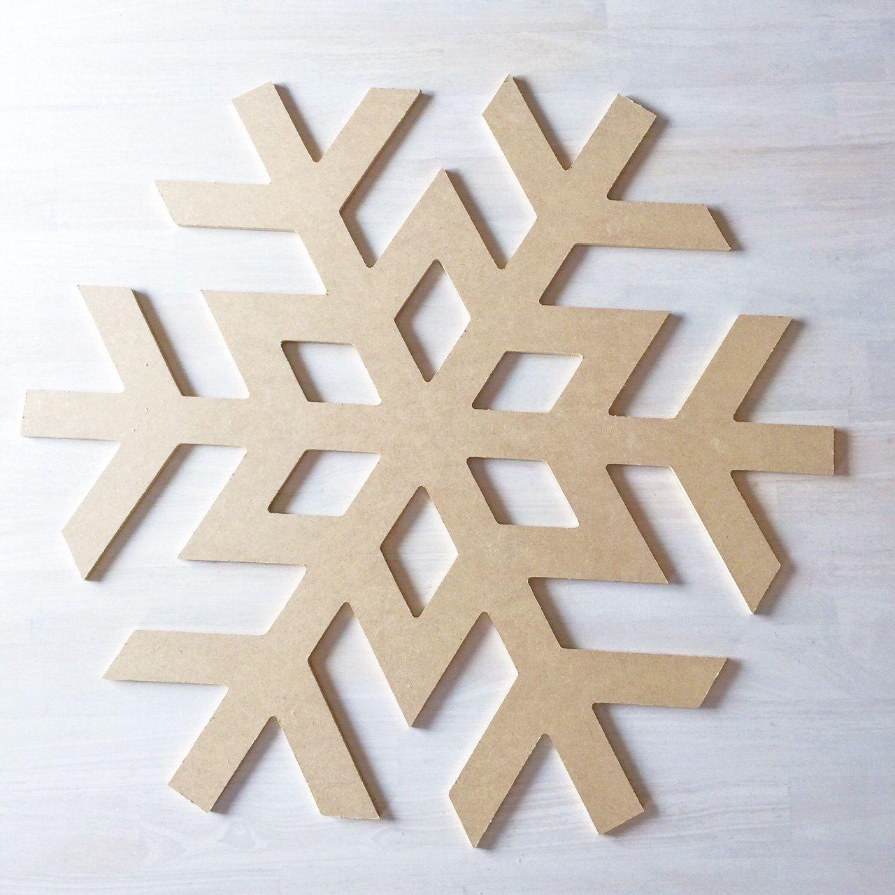 Snowflake Large Word Art Wood Cutouts Typography Christmas Wood Sign