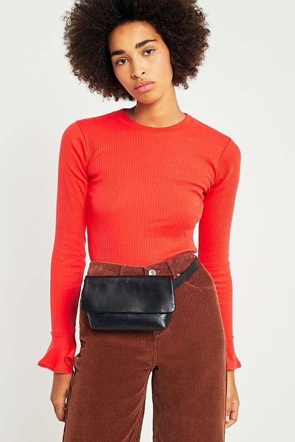 308ef10a27482 Vagabond Copenhagen Black Leather Bum Bag | Bertie LOVES | Leather ...