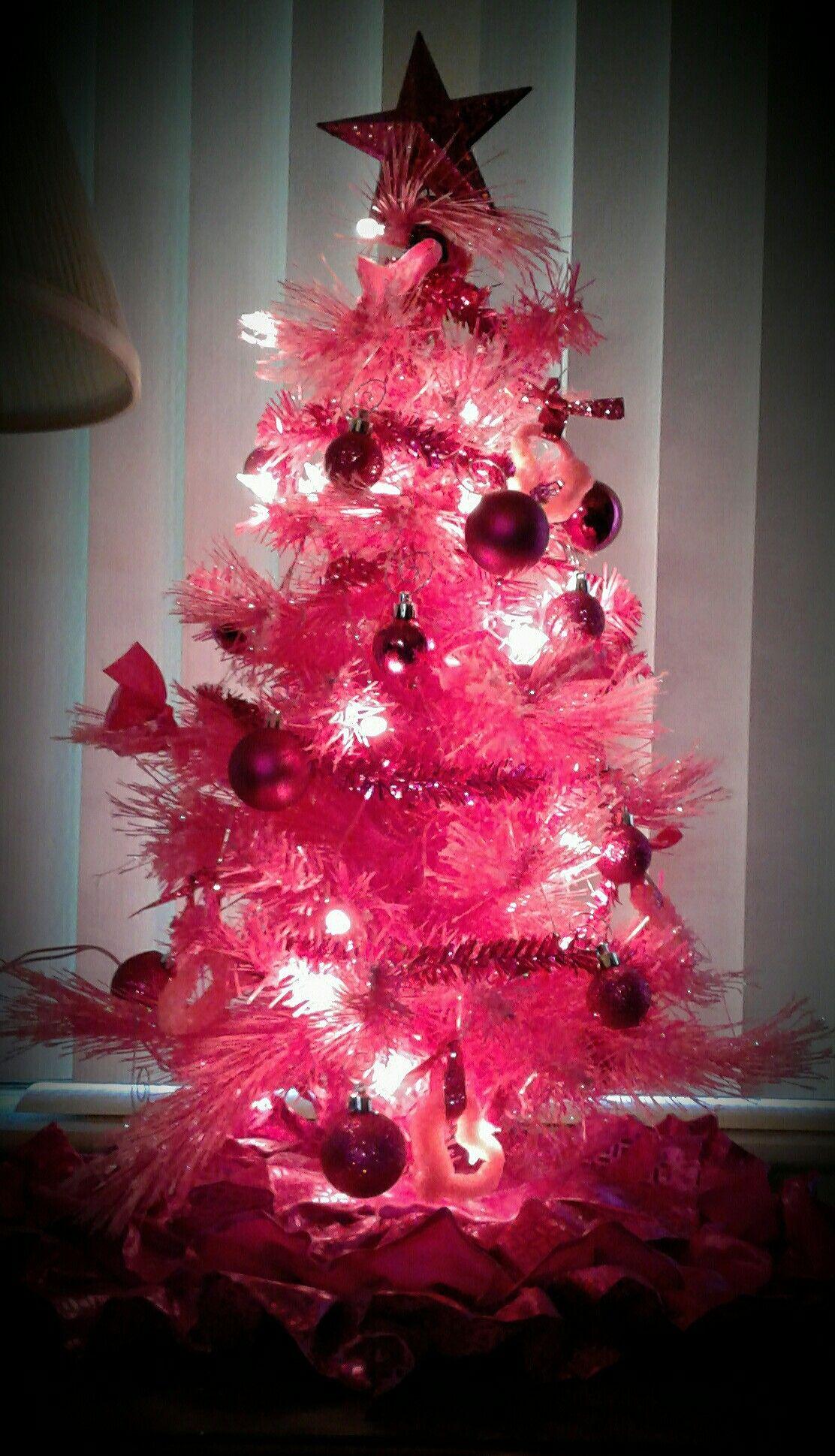 hot pink christmas tree i finally got my dream tree mini pink christmas tree