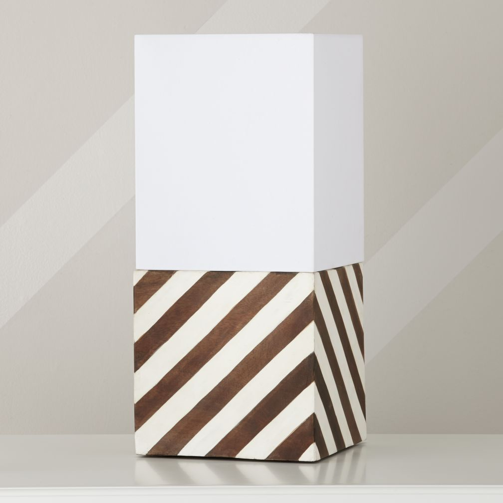 The Only Thing Round About Our Modern Cube Table Shade And Lamp Base Is  Their Ability To Round Out The Look Of Your Décor. The Base Features  Diagonal White ...