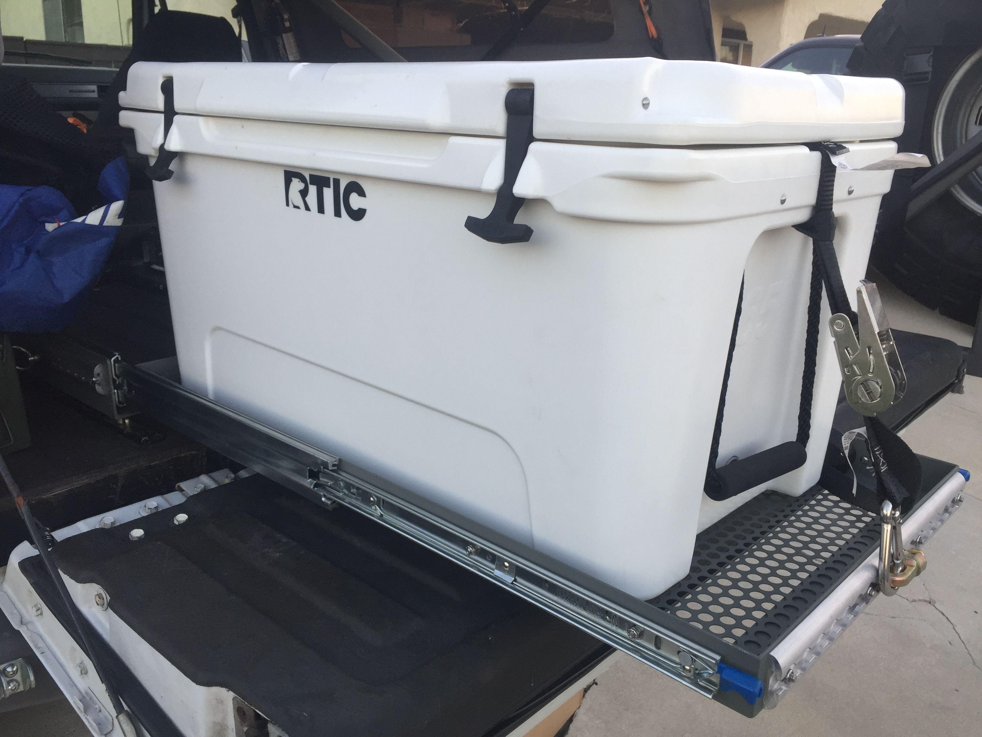 Truck Mounted Cooler Drawer With Locking Slides 65qt Cooler Diy Camping Truck Bed Cooler