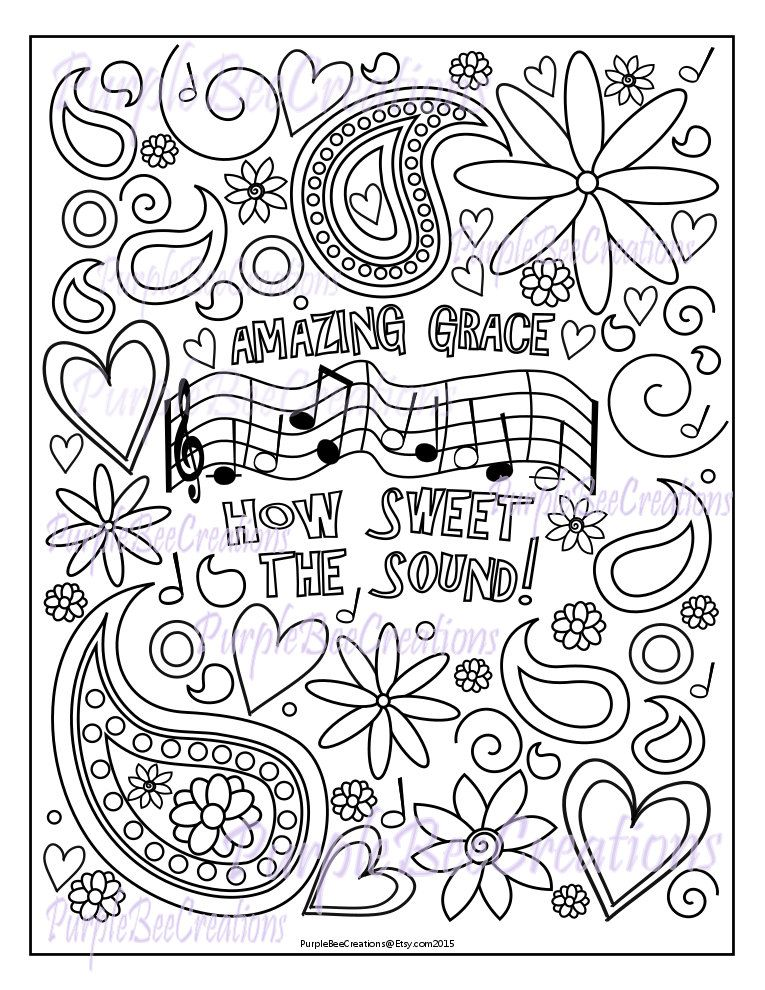 Coloring Page Hymn Coloring Page Amazing By Purplebeecreations