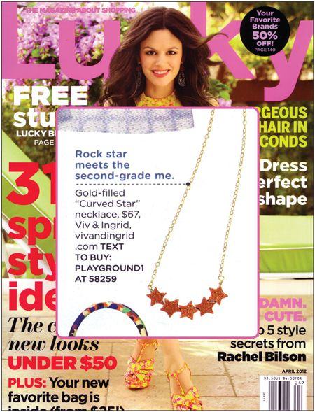 curved star necklace