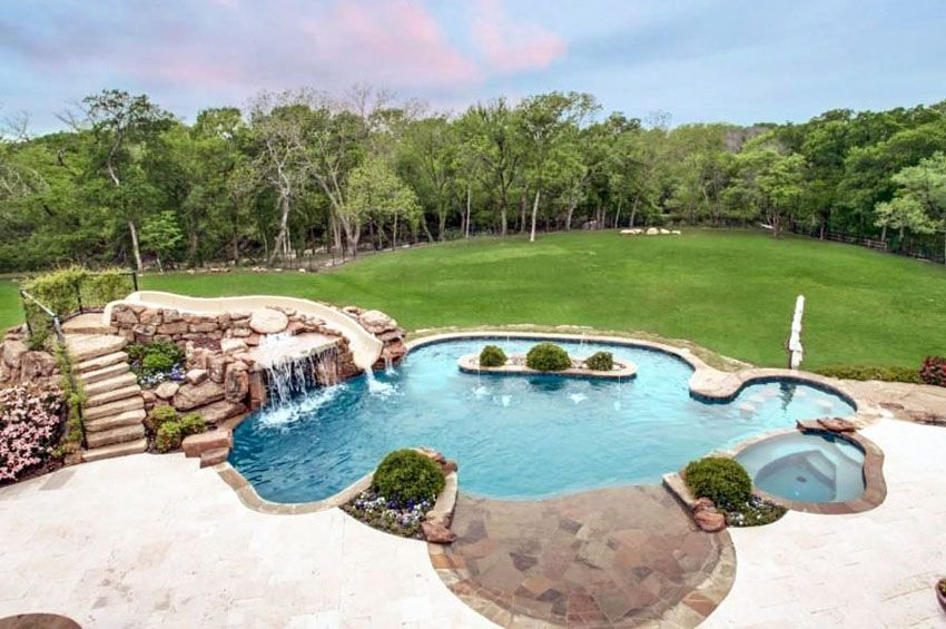 Swimming Pool Waterfalls Design Ideas Pool Waterfall Swimming