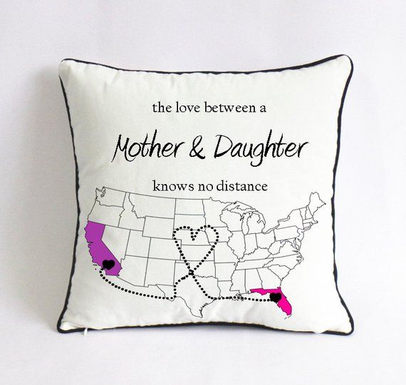 Long Distance Mom Daughter Pillow Mom Birthday Gift Mothers Day Gift