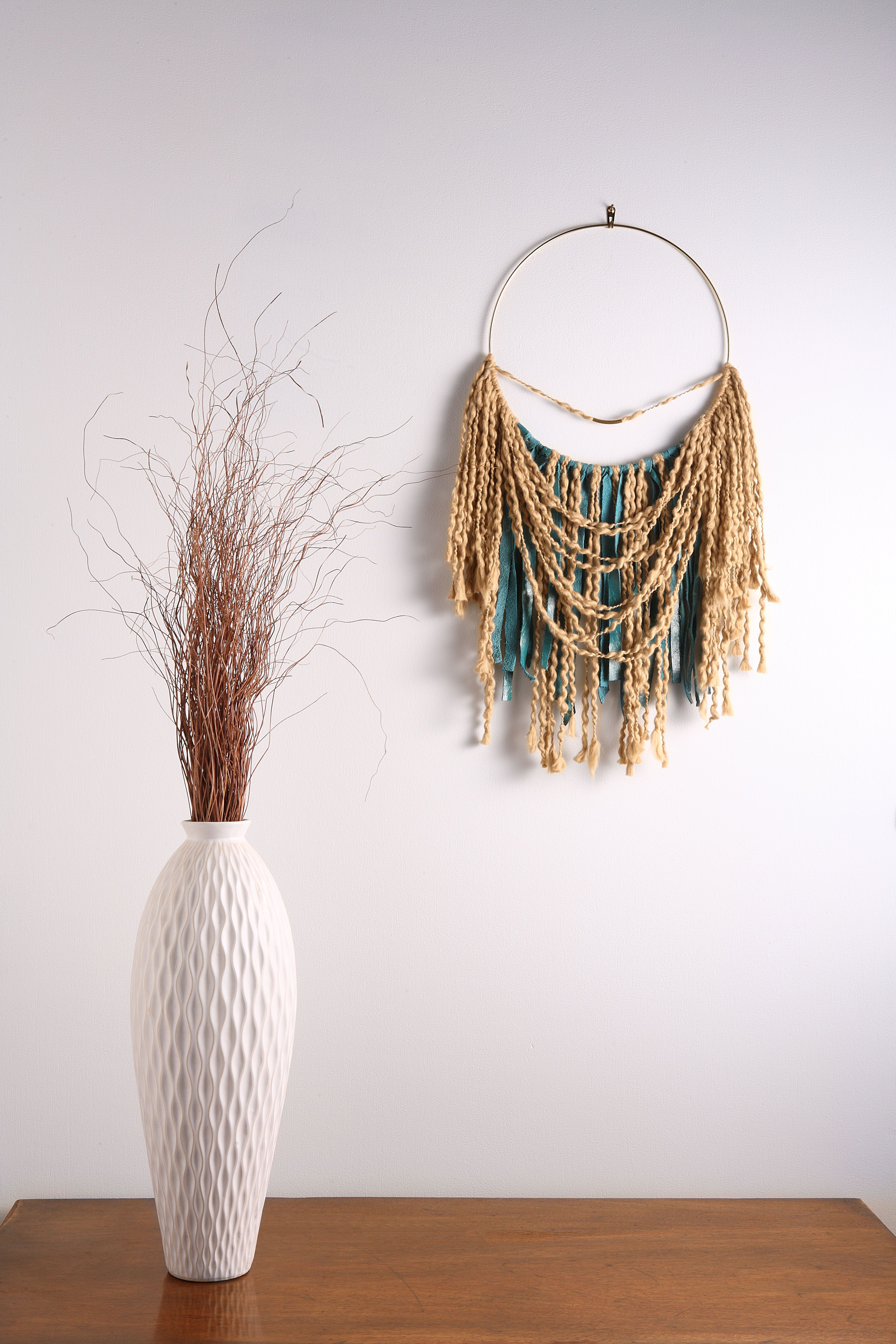 Ocean breeze macrame wall hangings bad dreams and leather fringe