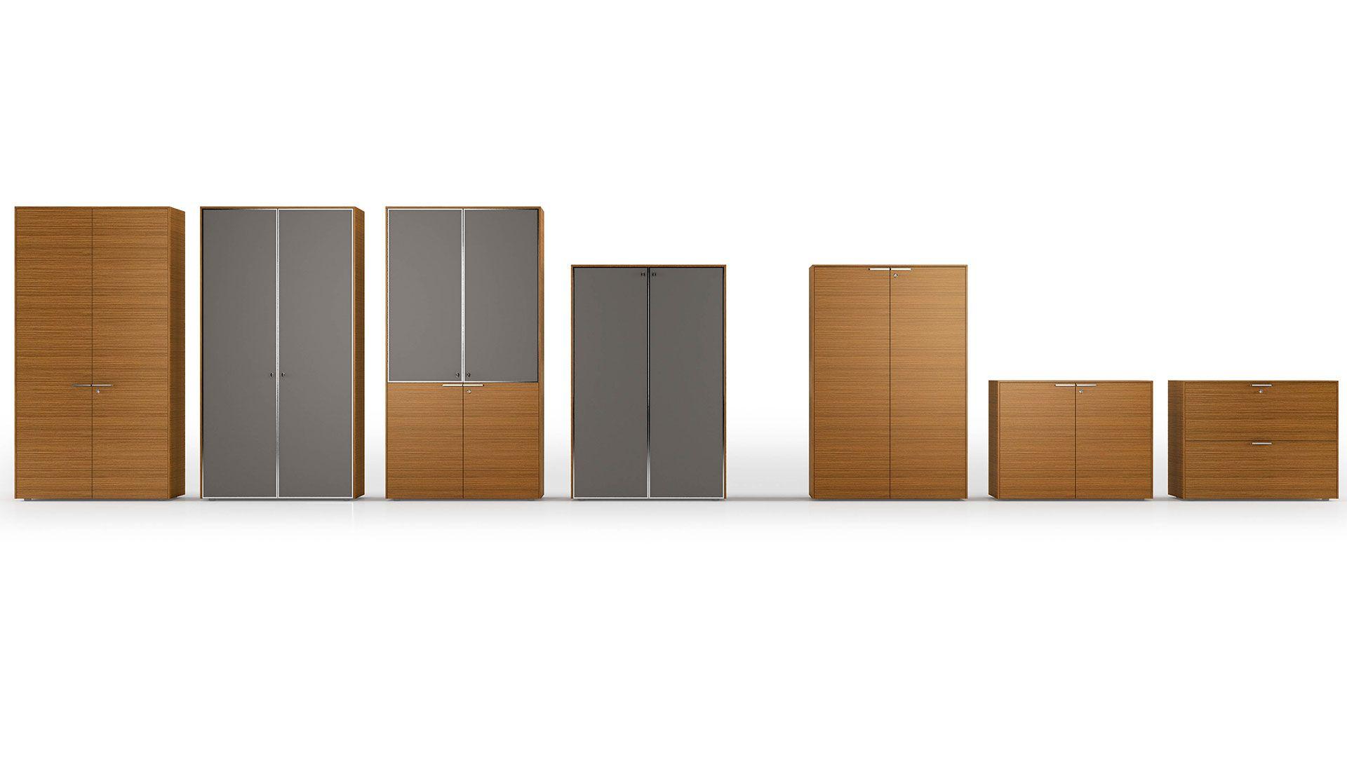 Büroschrank holz  Aktenschränke Schrankwand Platinum Büroschrank in verschiedenen ...