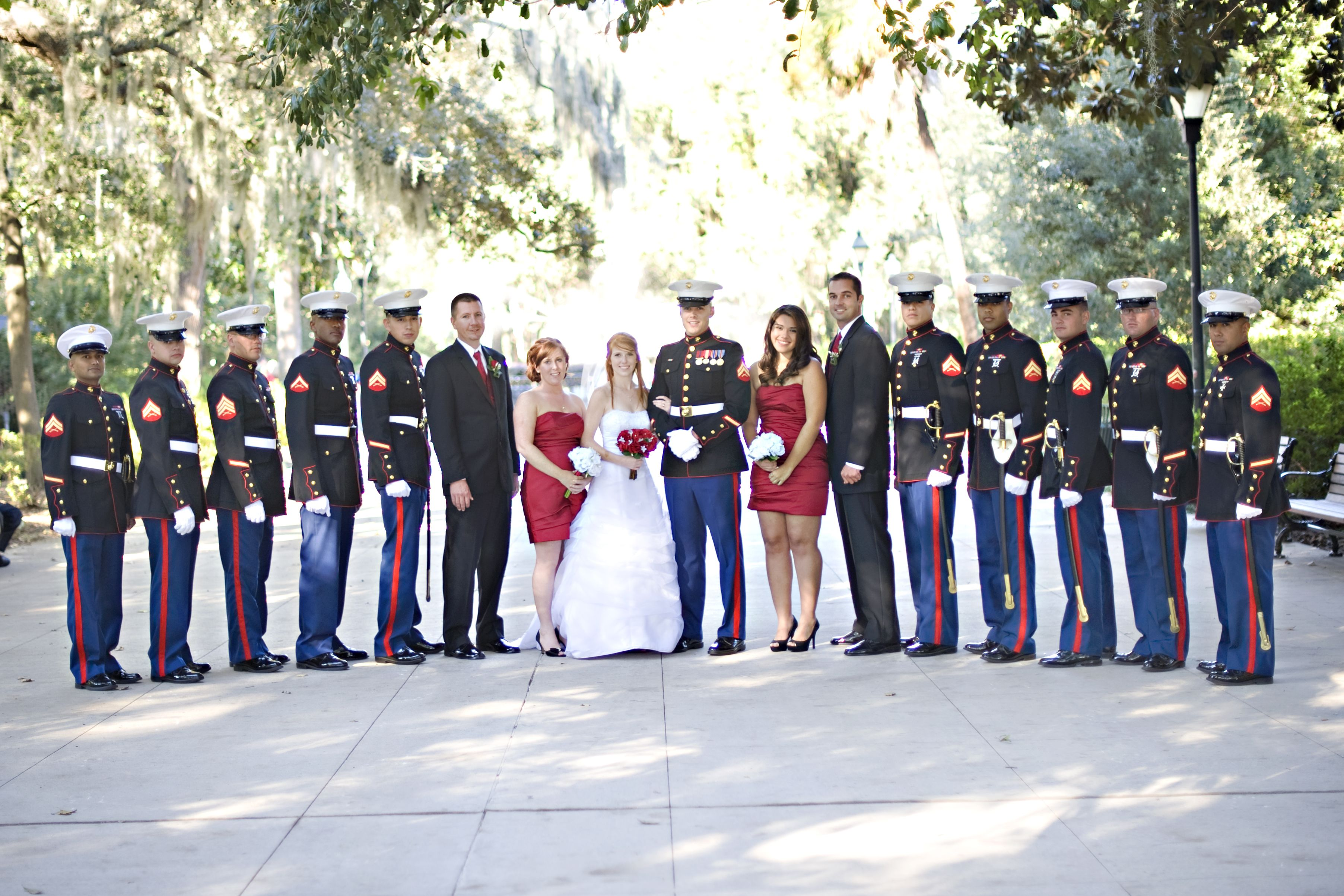 Marine Corps Wedding Party