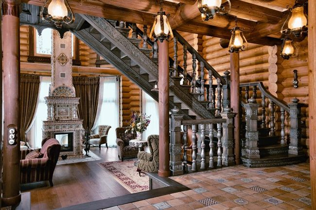 living room in russain style photo | Русский стиль | Pinterest ...