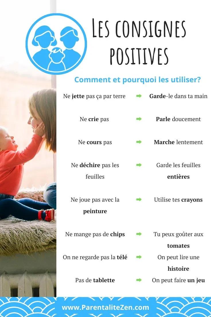 Comment Et Pourquoi Utiliser Les Consignes Positives Parentalite Zen Education Bienveillante Conseils Pour Parents Education Petite Enfance