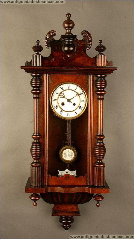 Reloj de pared de madera de principios del siglo xx - Reloj pared madera ...