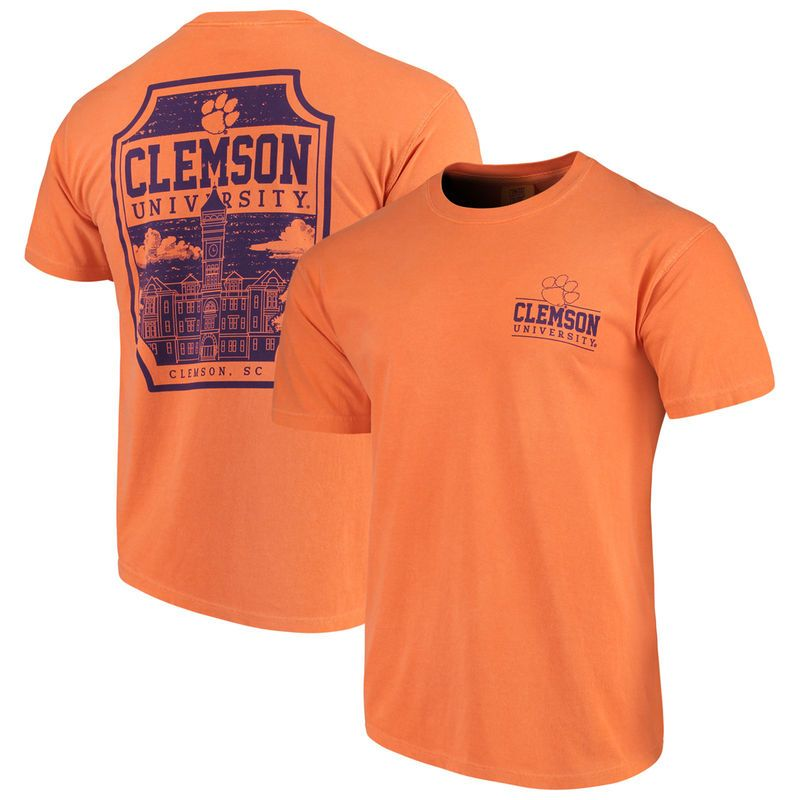 casual shoes on feet images of best deals on Clemson Tigers Comfort Colors Campus Icon T-Shirt - Orange ...