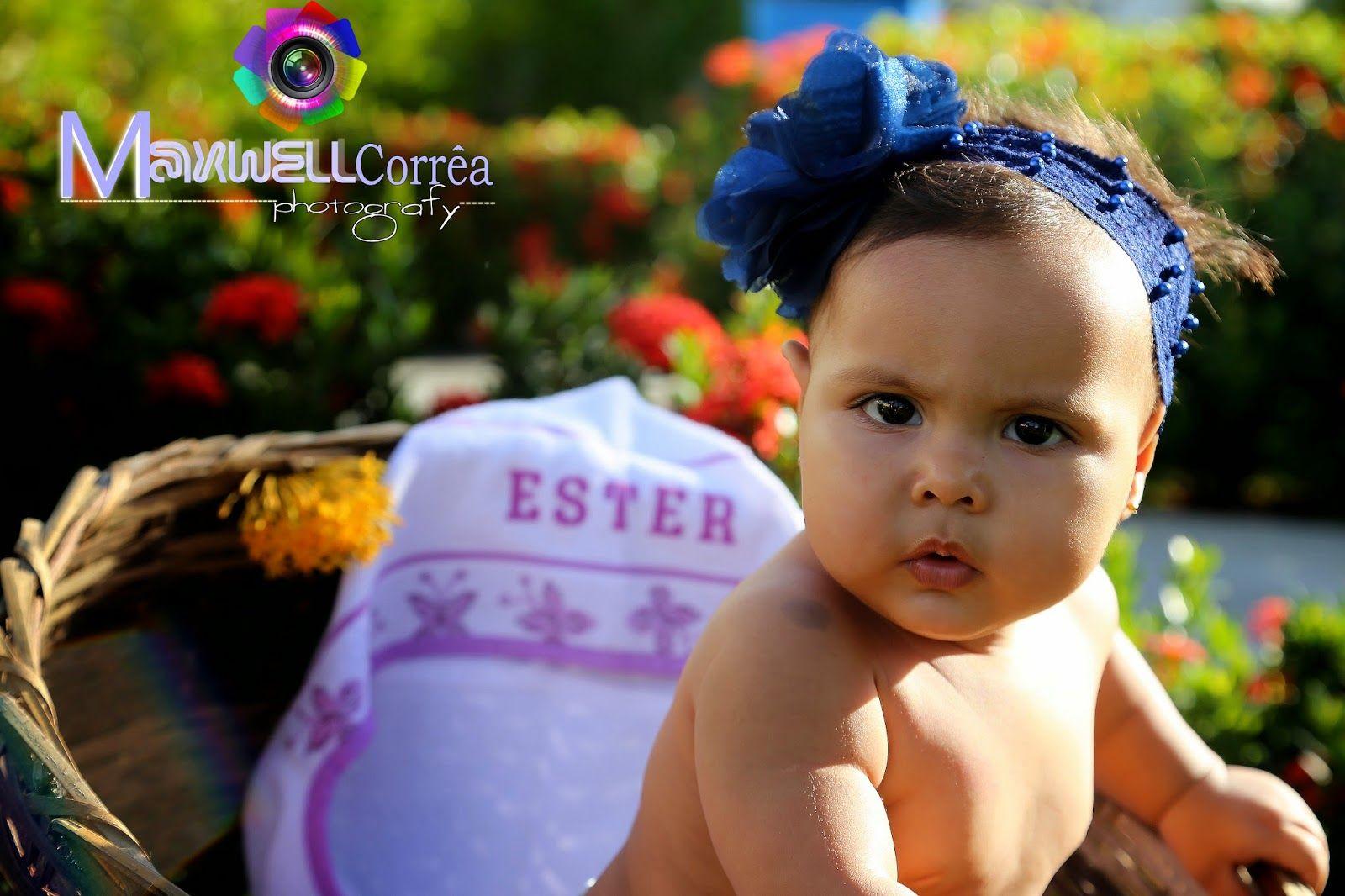 Maxwell Corrêa foto e video: Book infantil linda Ester 8 meses, parabéns pais pela princesa!
