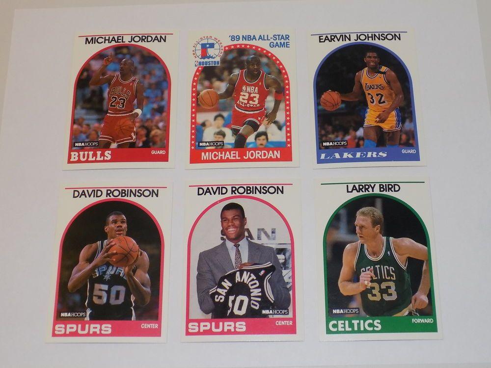 1989 nba hoops 6 card rookie hofer lot david robinson