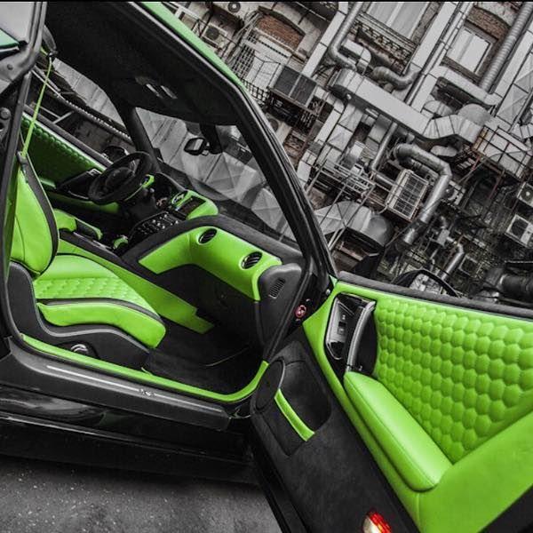 2013 Nissan Gt R Interior: Nissan GT-R Custom Interior Lime Green And Black Hexagon