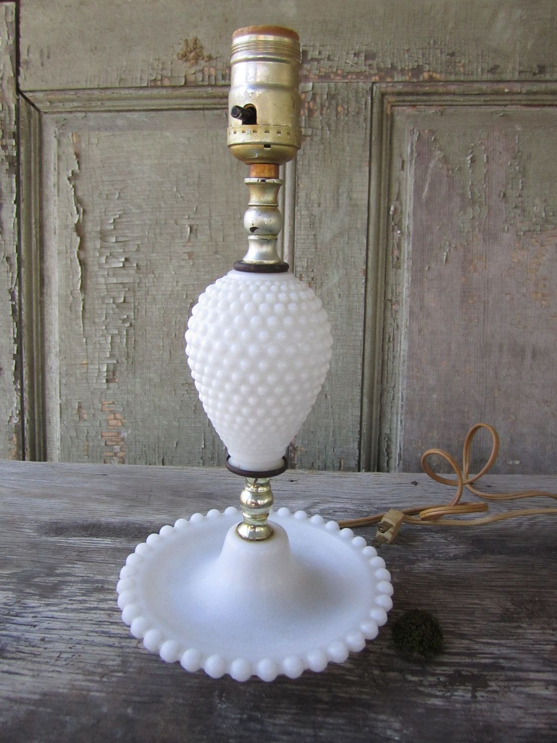 hobnail milk glass lamp i have one from childhood that's
