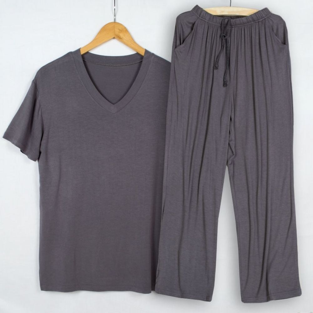 [SY] Mens pajamas teen half-sleeve summer thin cotton