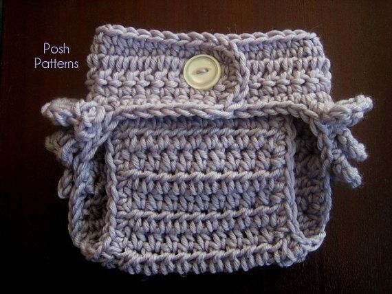 Crochet PATTERN - Ruffle Bottom Diaper Cover Pattern - Soaker ...