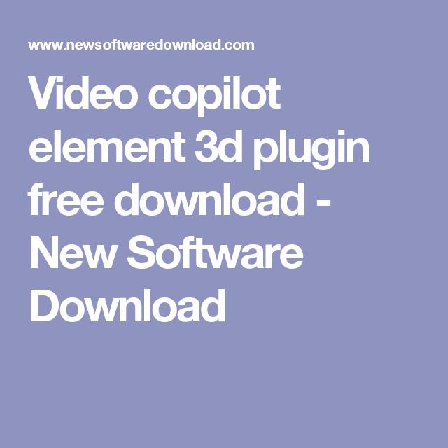 video copilot element 3d full download