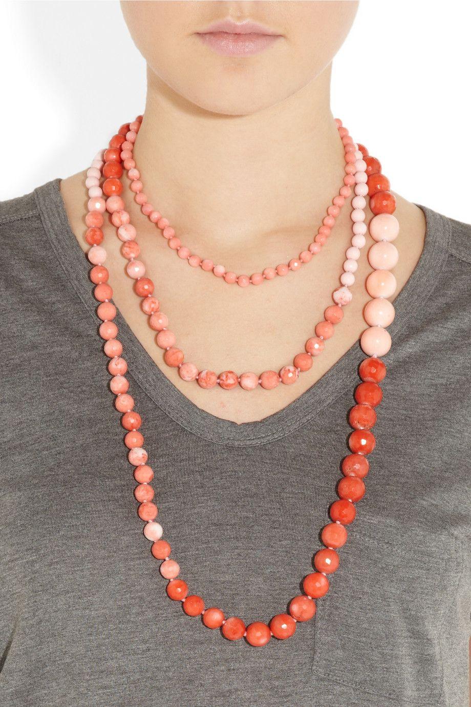Rosantica|Arianna 24-karat gold-dipped beaded necklace|NET-A-PORTER.COM