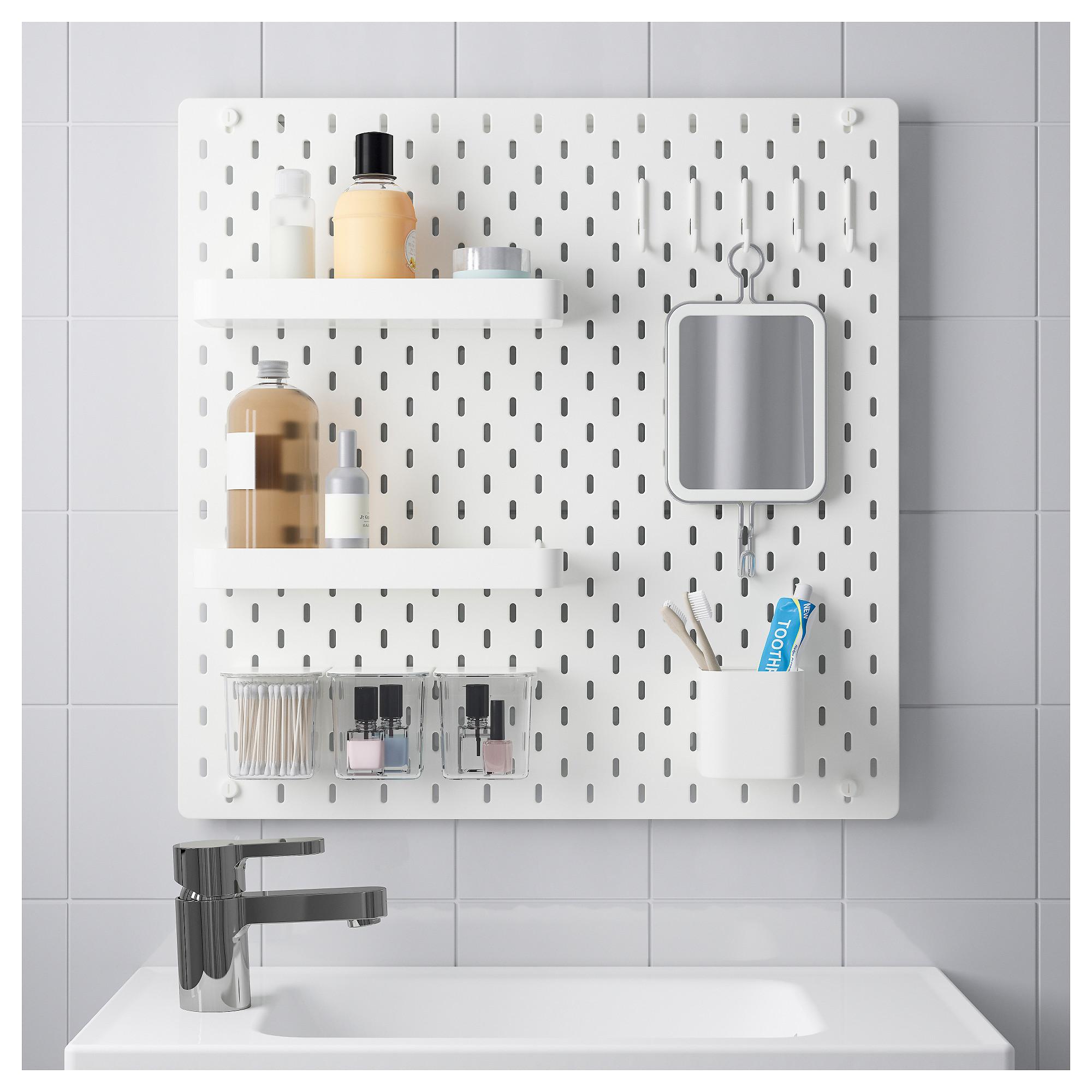Skadis Pegboard Combination White Ikea Ikea Peg Board Wall Storage
