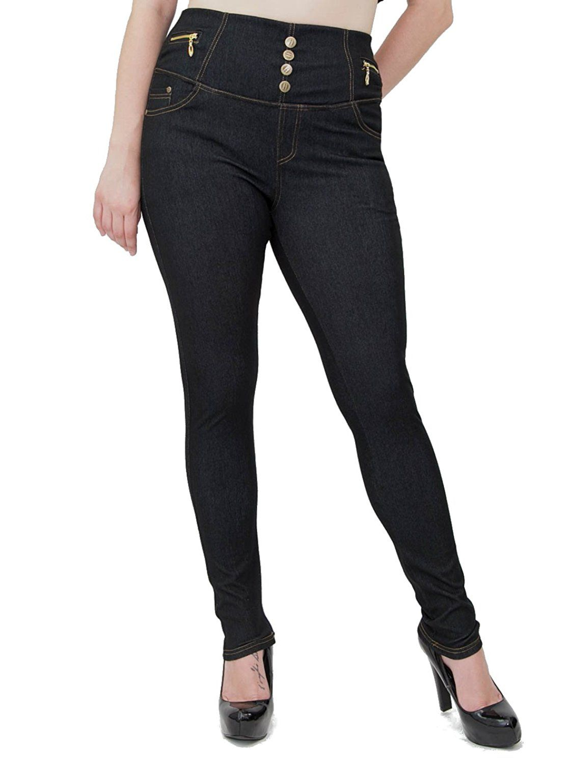 64658e65fc58d ROZAS Women s High Waist Plus Size Jeggings Spandex Pants AL15204X     New  and awesome product awaits you