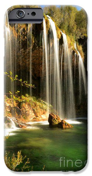 Molino de San Pedro waterfall iPhone Case by RicardMN Photography