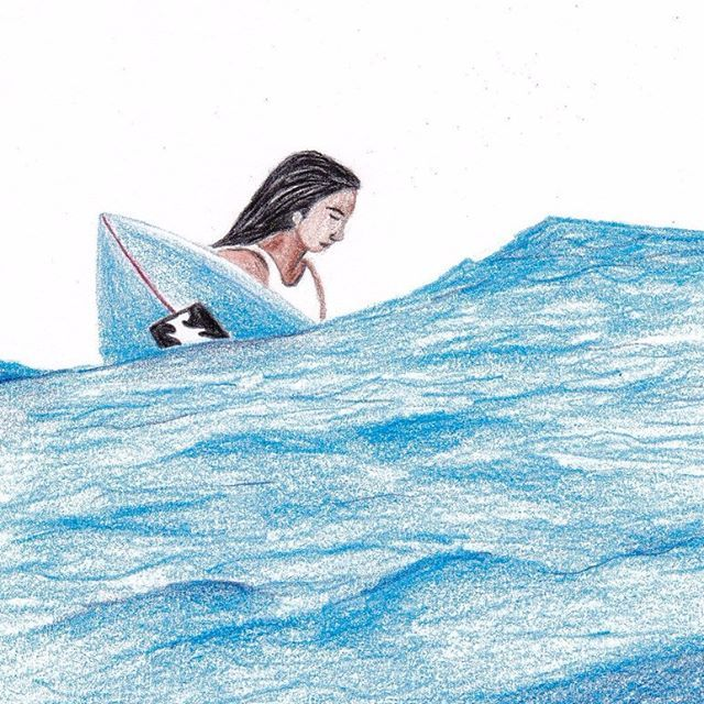 SURF . . . #surf #billabong #billabongwoman #swell #shortboard #wait #lineup #illustration #drawing #sketch . #서핑 #빌라봉 #파도타기 #라인업 #숏보드 #일러스트 #드로잉 #스케치 #그림