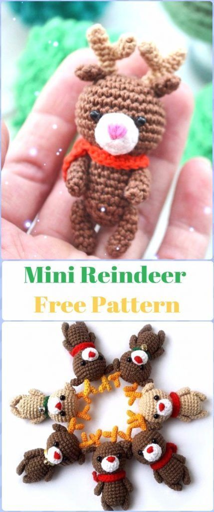 Crochet Amigurumi Reindeer Toy Softies Free Patterns | Free pattern ...