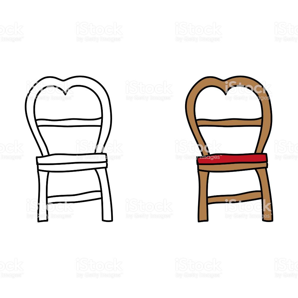 Cartoon Drawing Of A Chair Free Vector Art Cartoon Drawings Free Cartoons