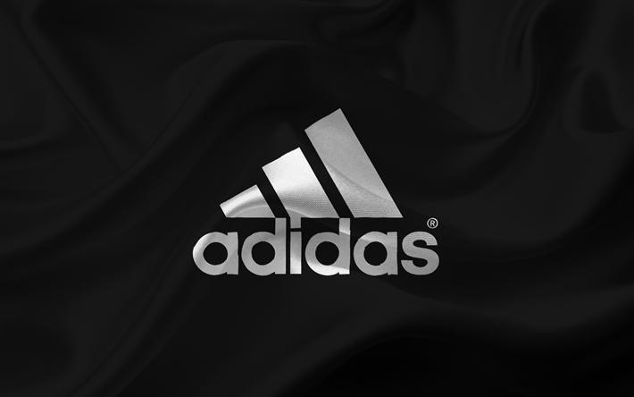 Download Wallpapers Adidas Emblem Adidas Logo Black Silk Besthqwallpapers Com Adidas Wallpapers Adidas Logo Wallpapers Adidas Art