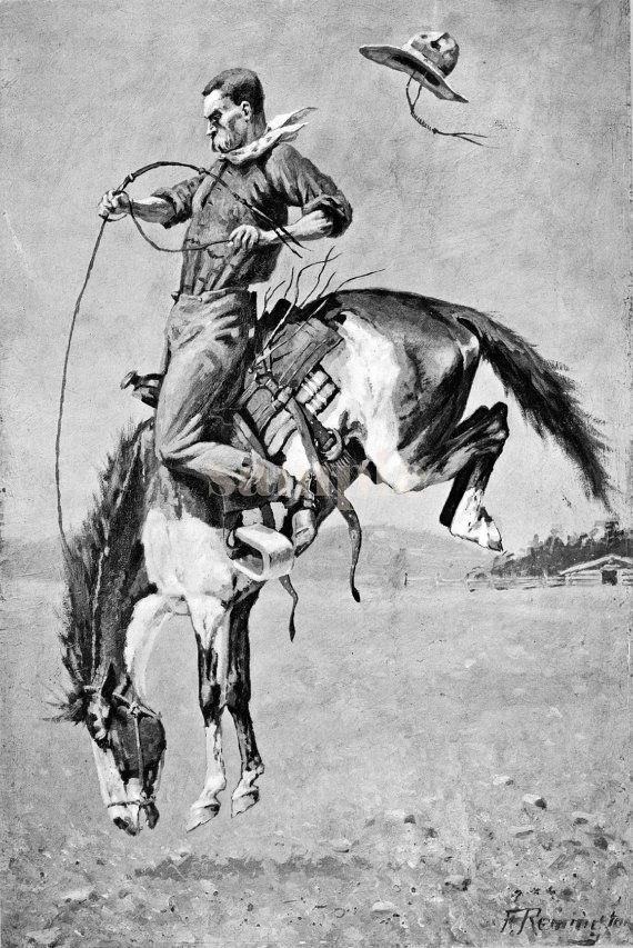 Hey, I found this really awesome Etsy listing at http://www.etsy.com/listing/152253323/vintage-painting-canvas-print-cowboy