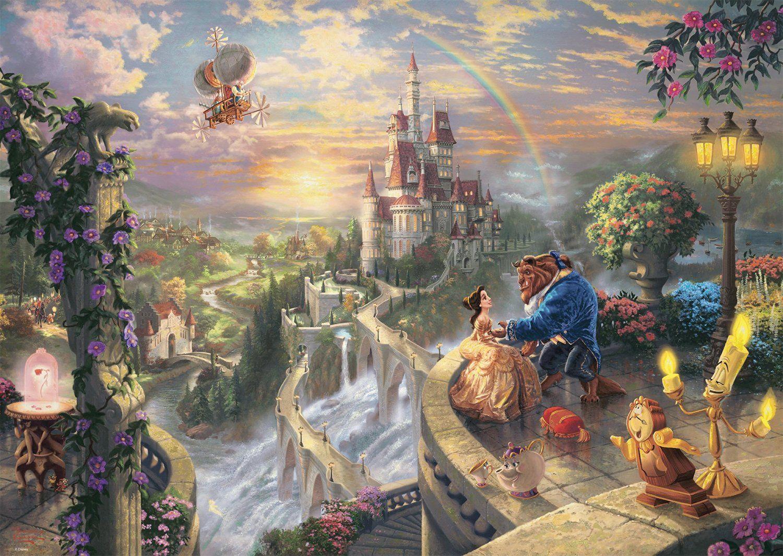 Disney Die Schone Und Das Biest Puzzle 1000 Teile Die Schone Und Das Biest Disney Zeichnungen Disney Silhouetten