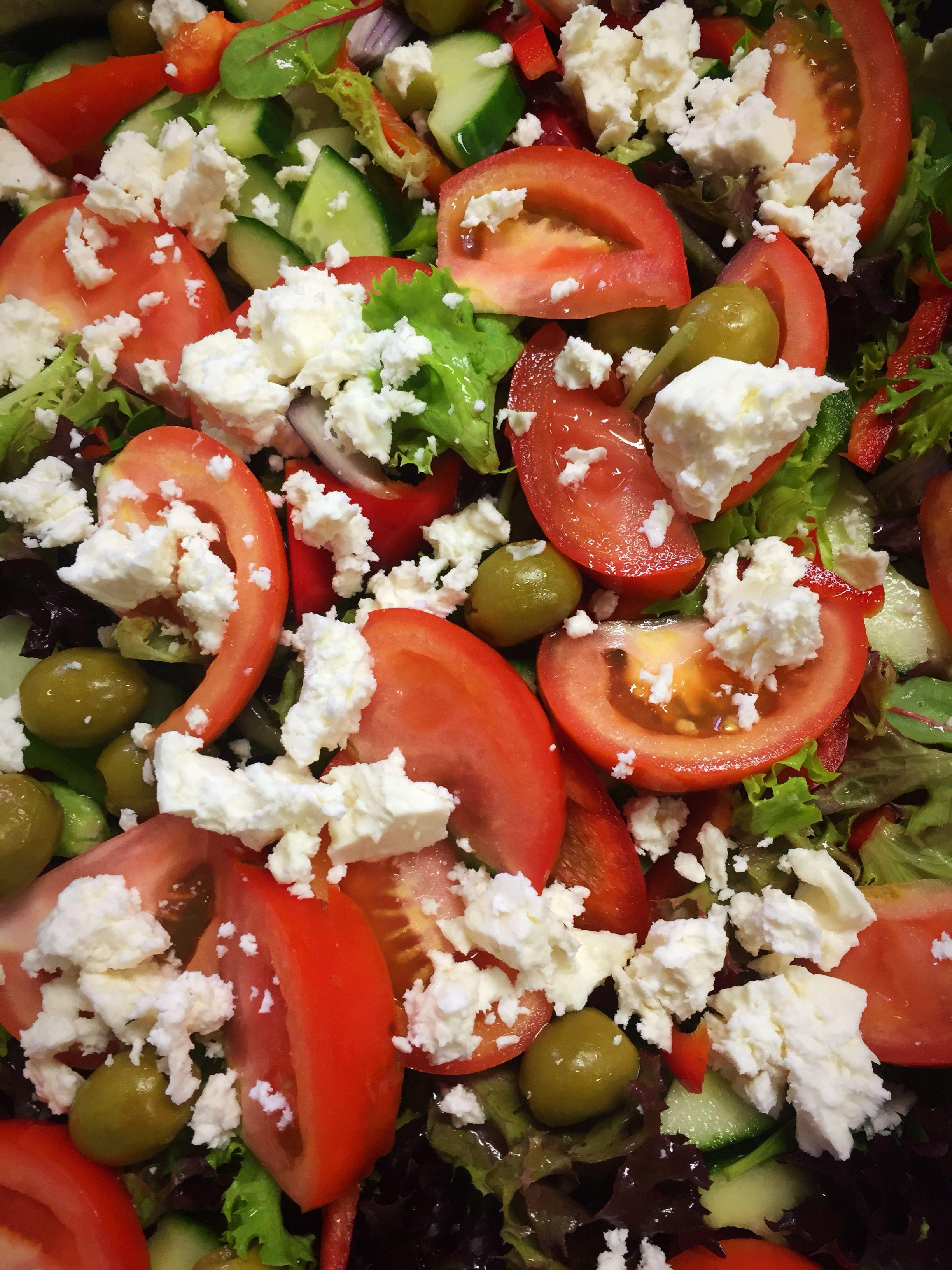 Mediterranean salad at HGC