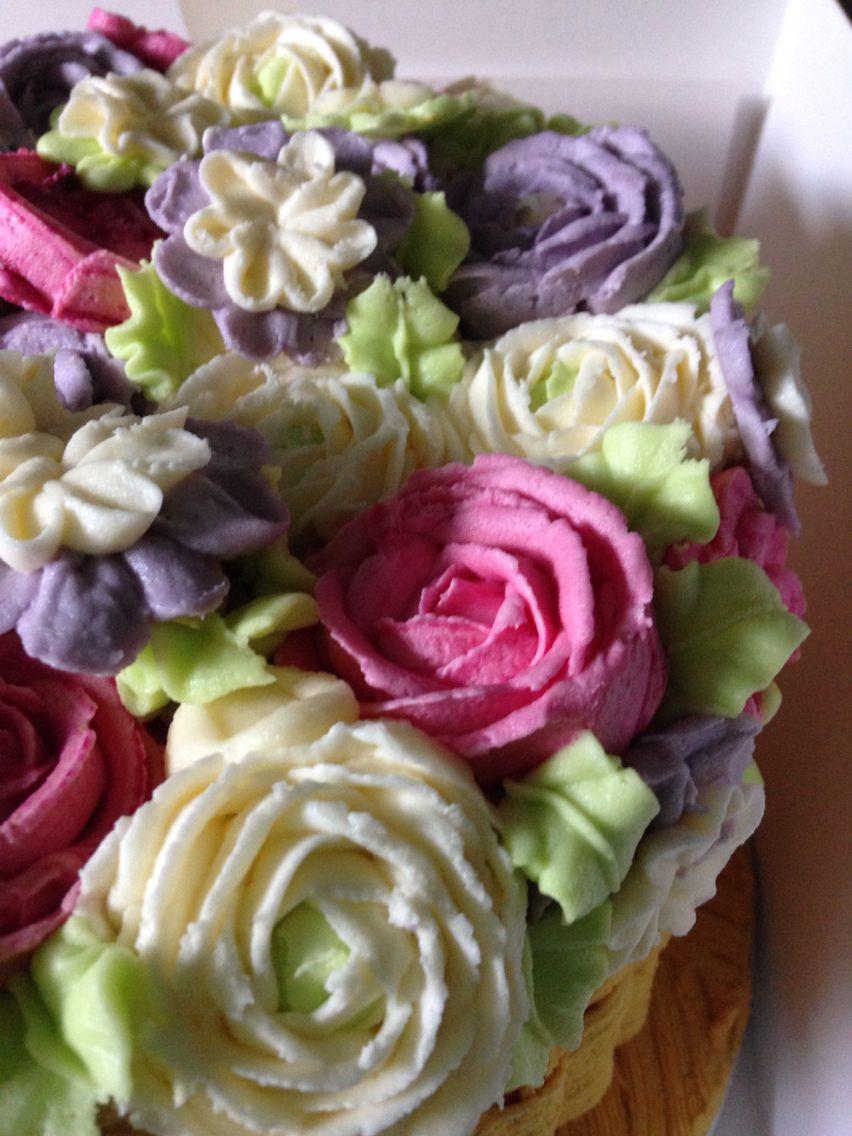 Buttercream flowers cake debbieus weddinganniversary cakes