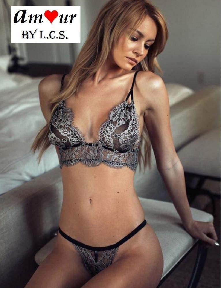 c4b9d938331 Silver Lacy Bra   Panty Sexy Lingerie Set