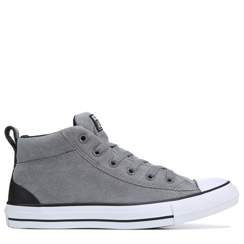 131a1ba57a88 Converse Men s Chuck Taylor All Star Street Mid Suede Sneakers (Grey White)