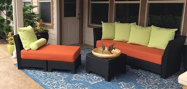 Extra Thick Custom Patio Cushions In Sunbrella Rain Spectrum Cayenne Patio Cushions Patio Inspiration Patio