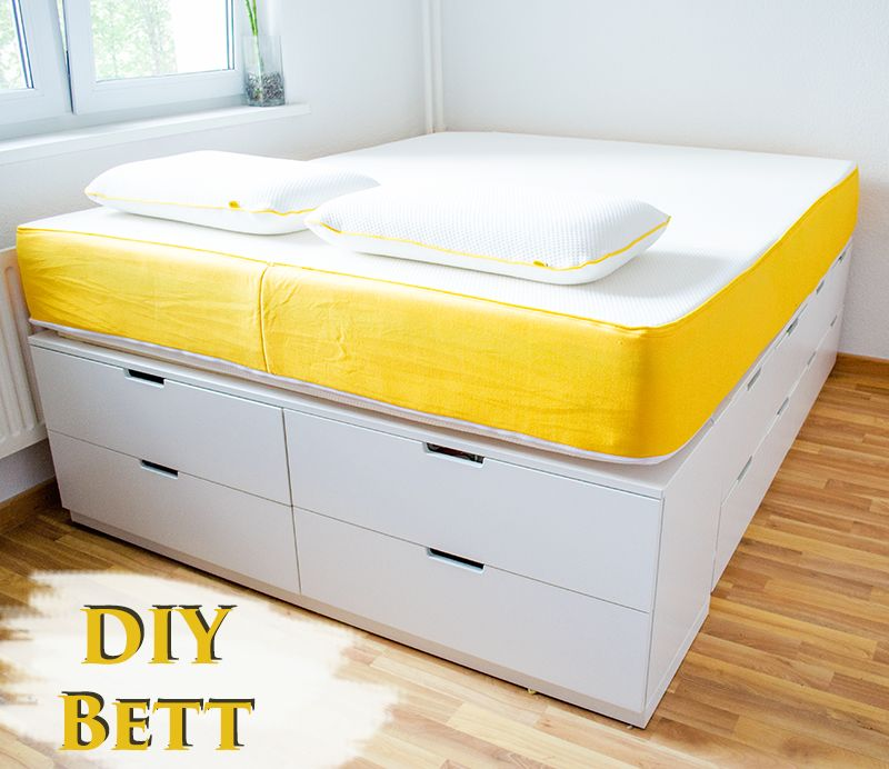 diy ikea hack bett selber bauen anleitungen do it yourself anleitung bett bauen diy. Black Bedroom Furniture Sets. Home Design Ideas