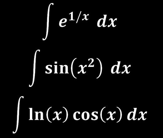 List of Functions Without Antiderivatives | Things to read