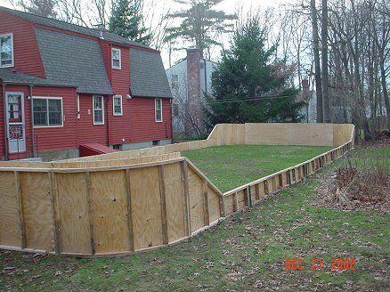 backyard rink boards google search