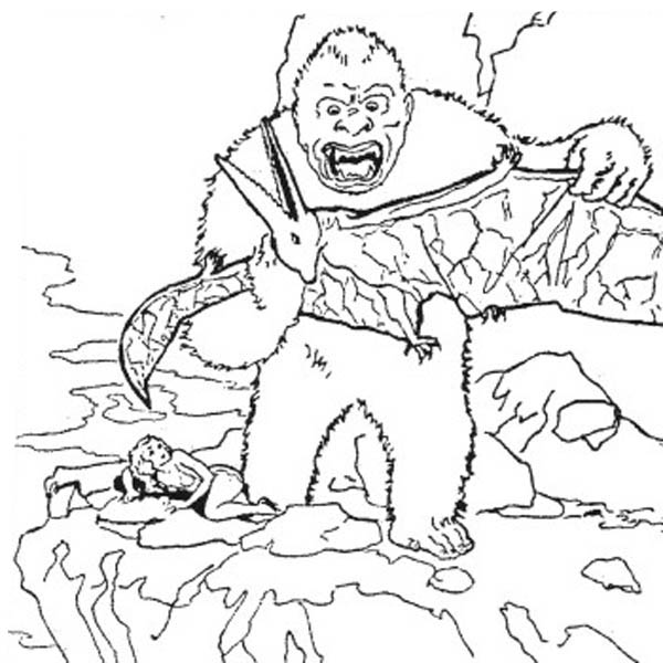 11 Aimable Coloriage Godzilla Pictures Flag Coloring Pages King Kong Coloring Pages