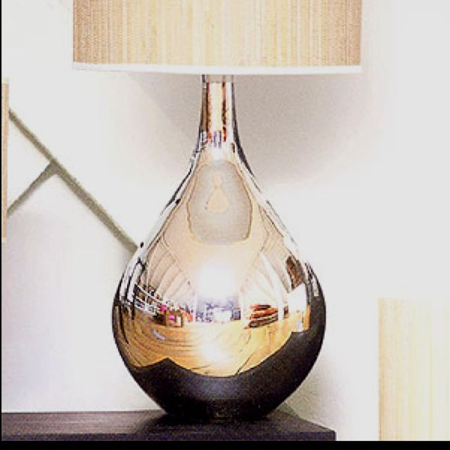 Roost Extra Large Mercury Glass Lamps 16 Dia 28 5 Tall Shades Are Made Of Thin Vertical Strips Of Natural Reed Mercury Table Lamp Mercury Glass Lamp Lamp