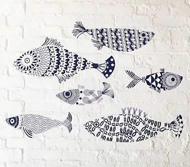 Bryant would love the Hamptons Pattern Fish Decal