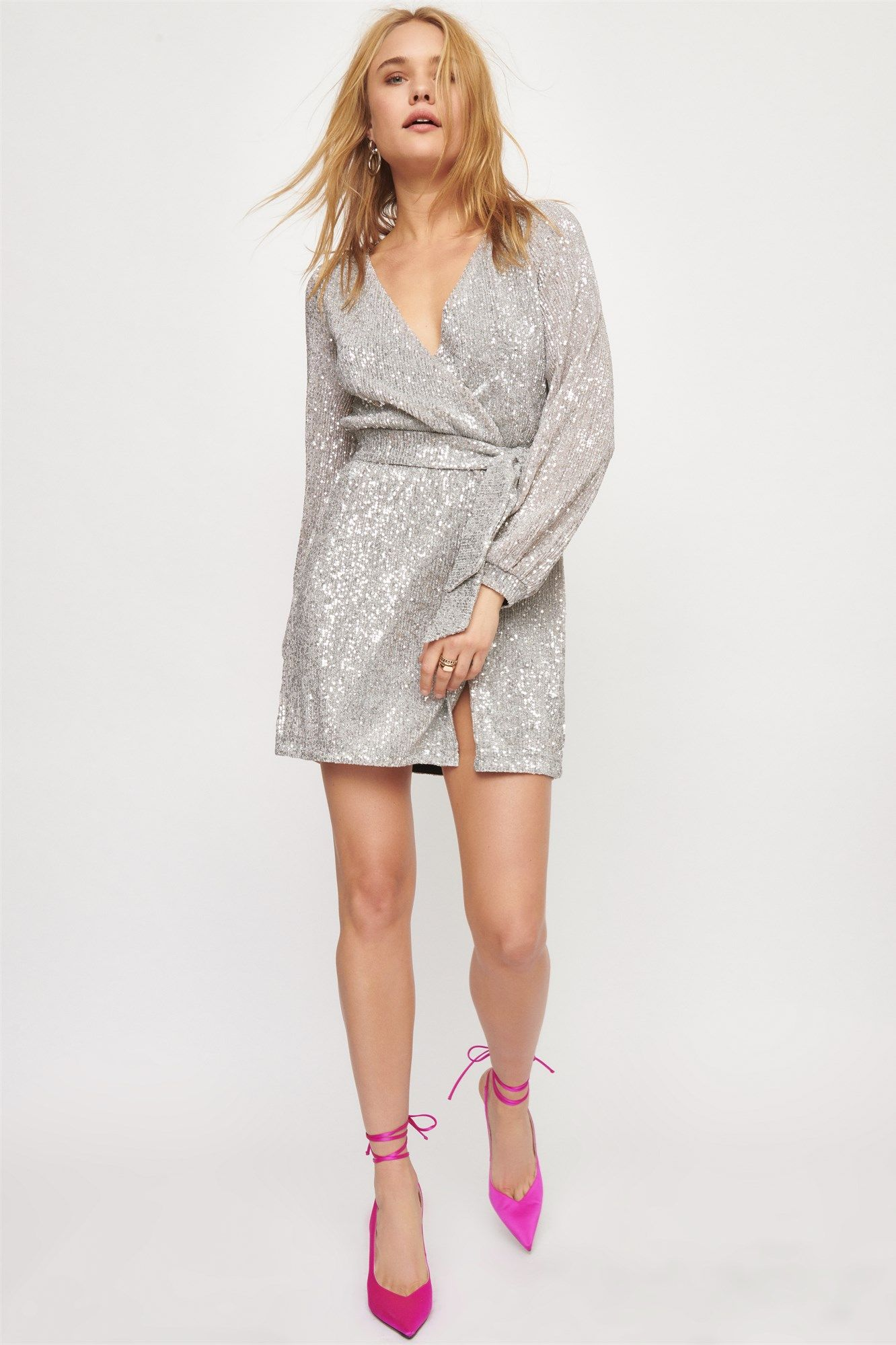 The Ruby Sequin Wrap Dress Dynamite US Wrap dress